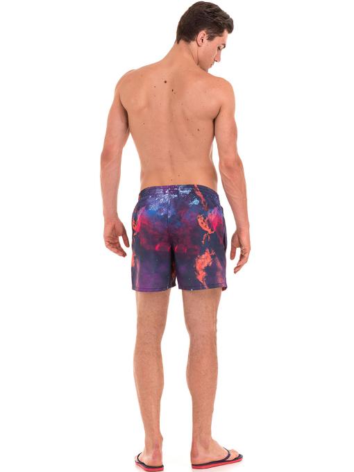 Къси плувни шорти XINT 163 - лилави E