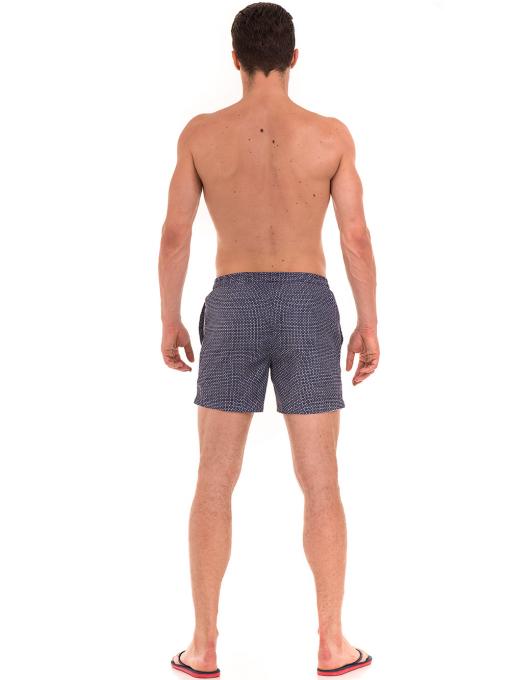 Къси плувни шорти XINT 206 - тъмно сини E
