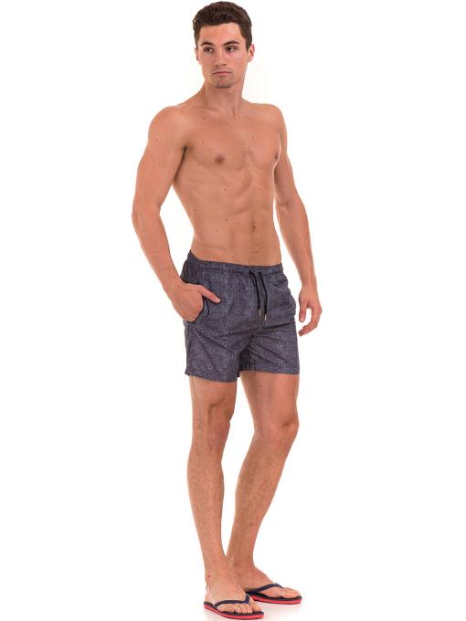 Къси плувни шорти XINT 209 - тъмно сини C