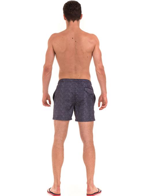 Къси плувни шорти XINT 209 - тъмно сини E