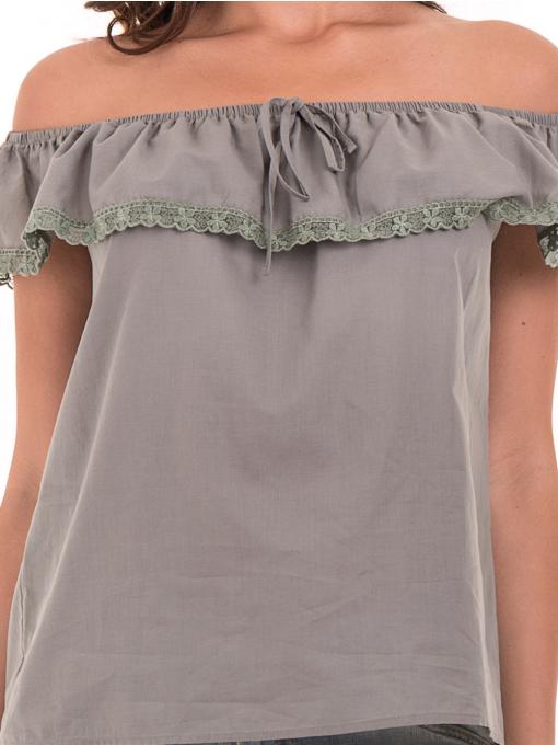 Дамска блуза свободен модел JOVENNA 2125 - каки D