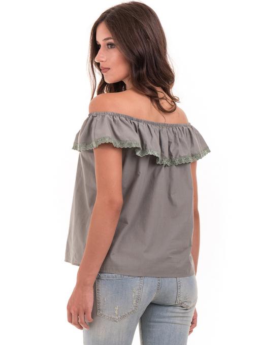Дамска блуза свободен модел JOVENNA 2125 - каки B