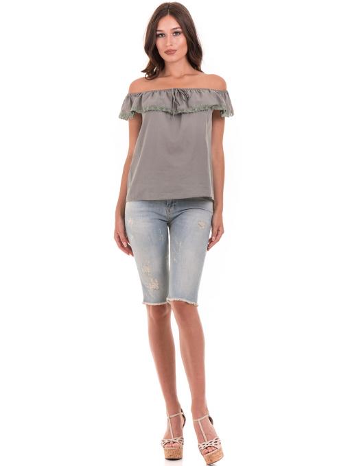 Дамска блуза свободен модел JOVENNA 2125 - каки C