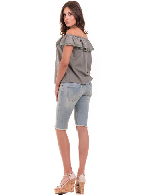 Дамска блуза свободен модел JOVENNA 2125 - каки E