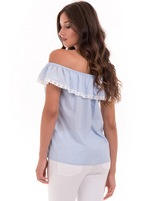 Дамска блуза свободен модел JOVENNA 2125 - светло синя B