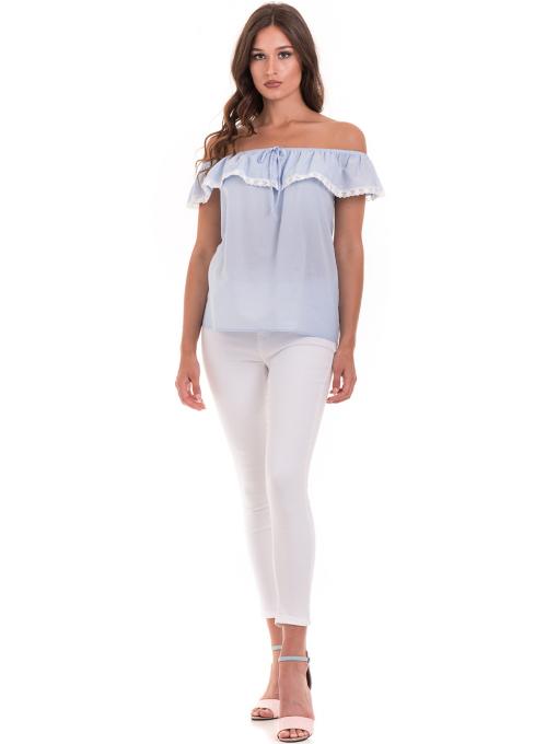 Дамска блуза свободен модел JOVENNA 2125 - светло синя C