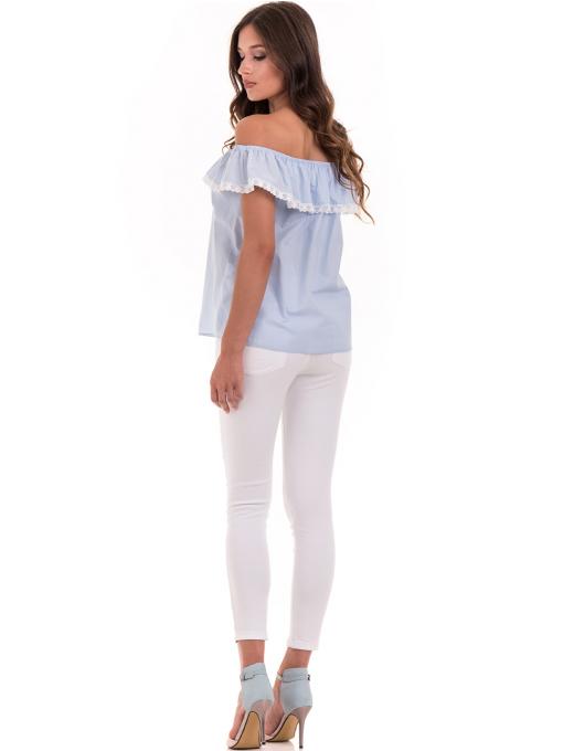 Дамска блуза свободен модел JOVENNA 2125 - светло синя E
