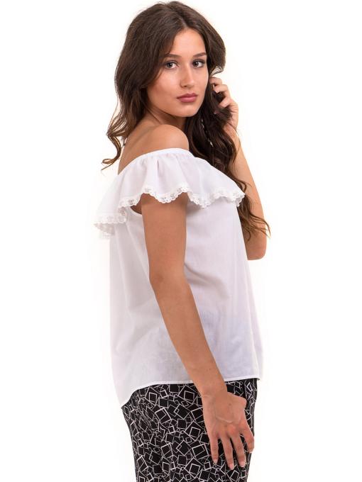 Дамска блуза свободен модел JOVENNA 2125 - бяла B
