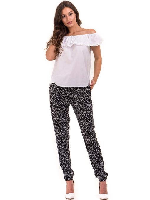 Дамска блуза свободен модел JOVENNA 2125 - бяла C