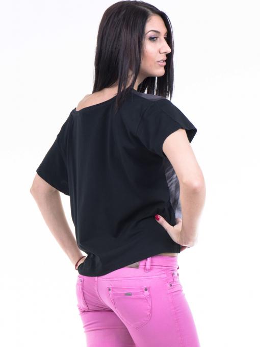 Дамска блуза с къс ръкав VIGOSS 10091 - черна B