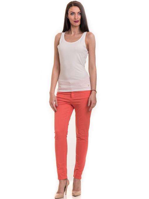Дамски  слим фит панталон XINT 337 - цвят корал C1
