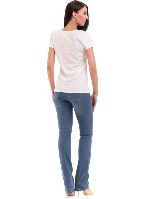 Дамска тениска с обло деколте FASHION FRIENDS 496 - цвят екрю E