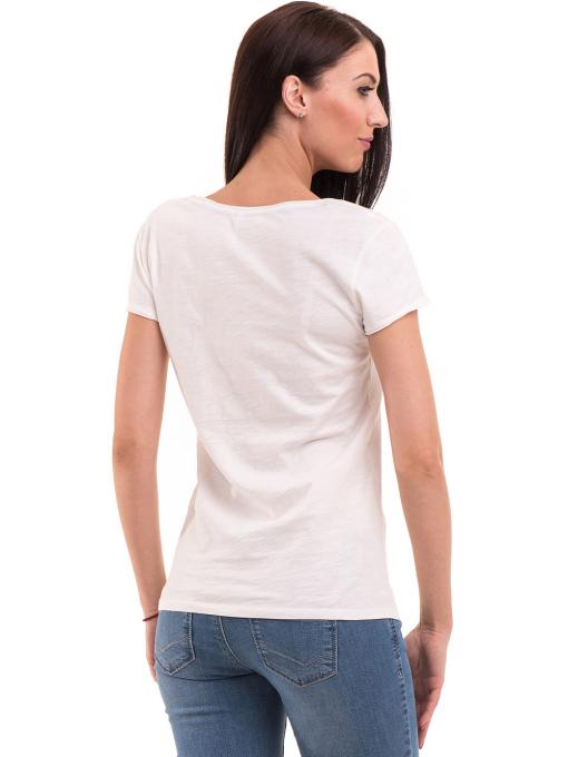 Дамска тениска с обло деколте FASHION FRIENDS 496 - цвят екрю B
