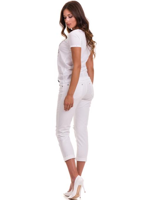 Дамска тениска с надпис и щампа JOGGY GIRLS 6110 - бяла E