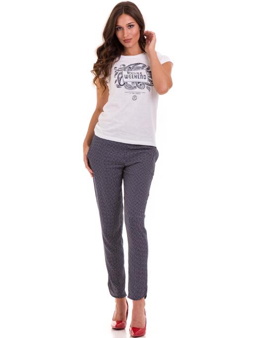Дамска тениска с надпис и щампа JOGGY GIRLS 6112 - бяла C