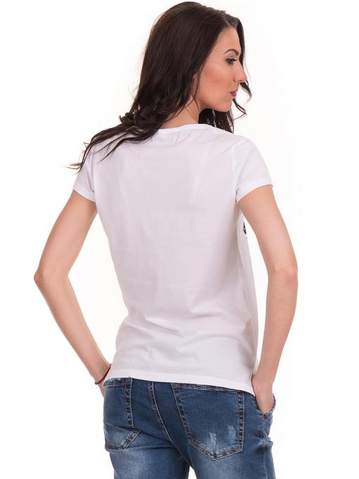 Дамска тениска с щампа JOGGY GIRLS 6113 - бяла B