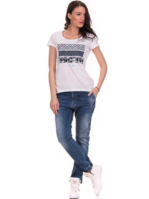 Дамска тениска с щампа JOGGY GIRLS 6113 - бяла C