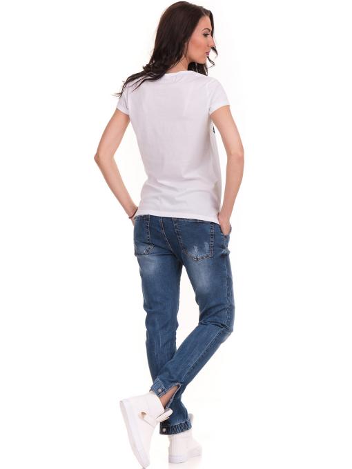 Дамска тениска с щампа JOGGY GIRLS 6113 - бяла E