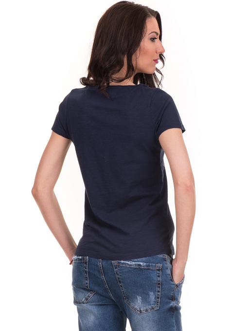 Дамска тениска с щампа JOGGY GIRLS 6127 - тъмно синя B