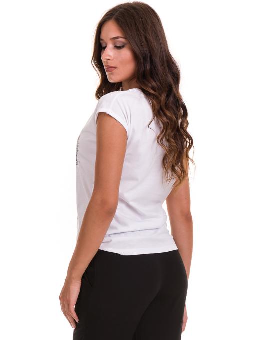 Дамска тениска с щампа JOGGY GIRLS 6193 - бяла B