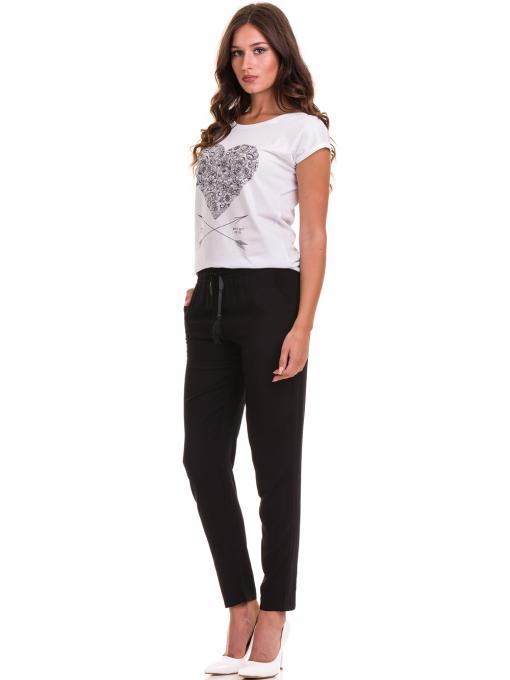 Дамска тениска с щампа JOGGY GIRLS 6193 - бяла C