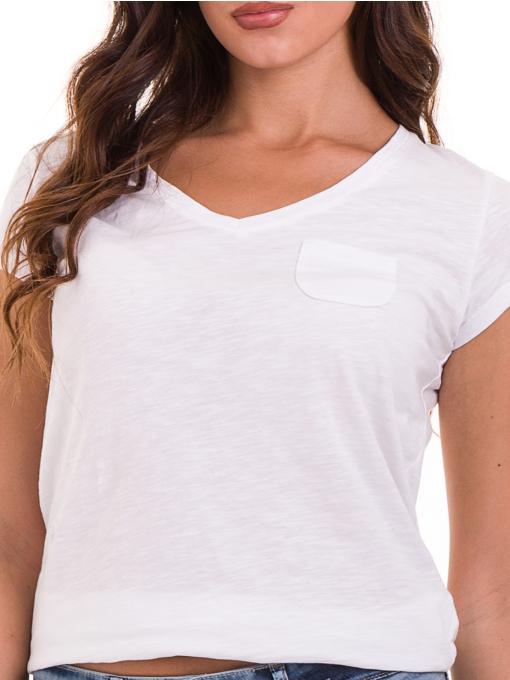 Дамска блуза с V-образно деколте JOGGY GIRLS 6200 - бяла D