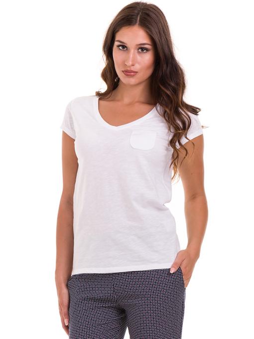 Дамска блуза с V-образно деколте JOGGY GIRLS 6200 - бяла