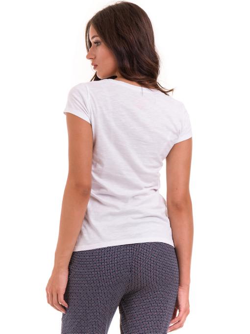 Дамска блуза с V-образно деколте JOGGY GIRLS 6200 - бяла B