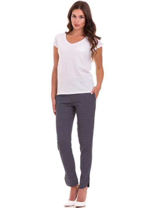 Дамска блуза с V-образно деколте JOGGY GIRLS 6200 - бяла C