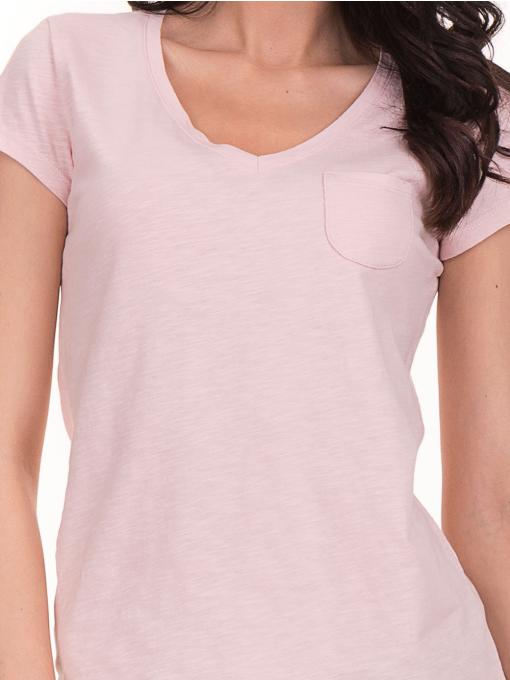 Дамска тениска с V-образно деколте JOGGY GIRLS 6200 - розова D