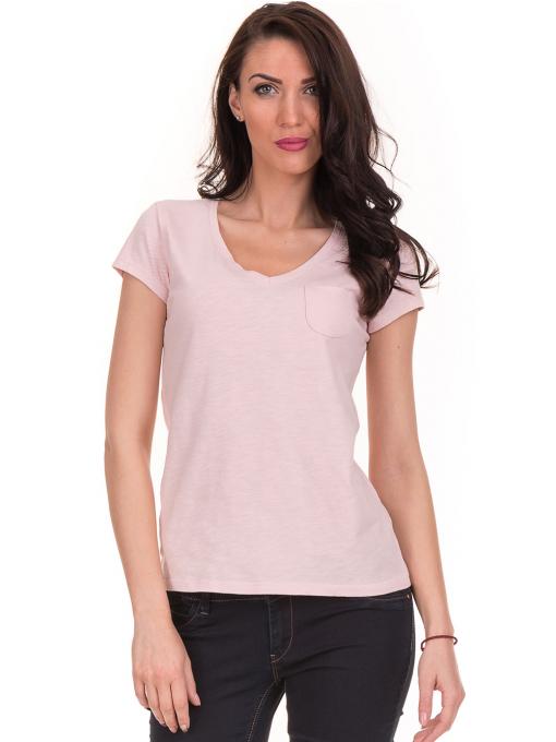Дамска тениска с V-образно деколте JOGGY GIRLS 6200 - розова
