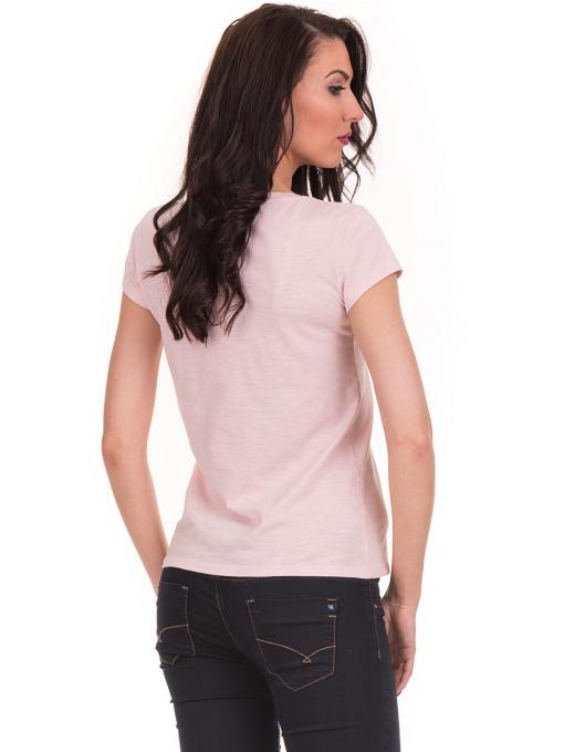 Дамска тениска с V-образно деколте JOGGY GIRLS 6200 - розова B