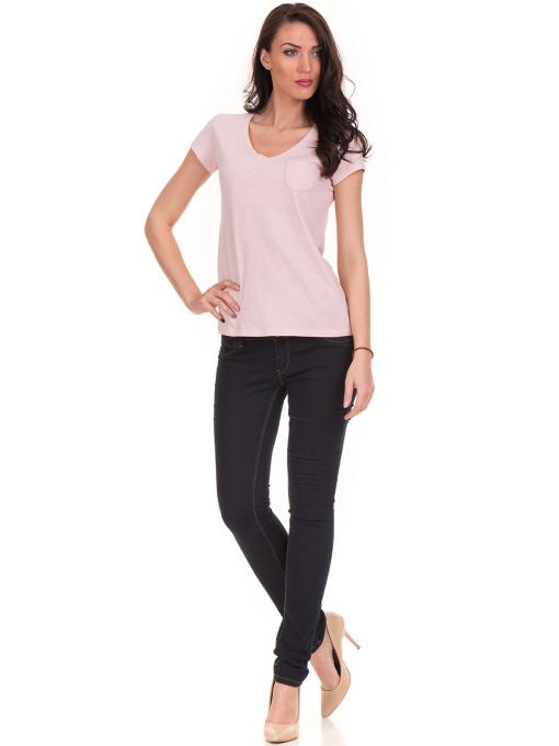 Дамска тениска с V-образно деколте JOGGY GIRLS 6200 - розова C