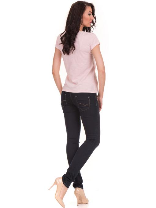 Дамска тениска с V-образно деколте JOGGY GIRLS 6200 - розова E