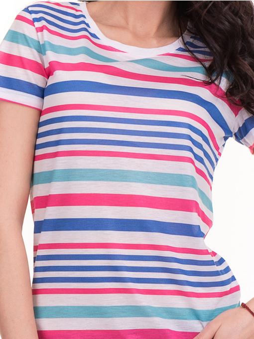 Дамска тениска на райе JOGGY GIRLS 6202 - бяла D