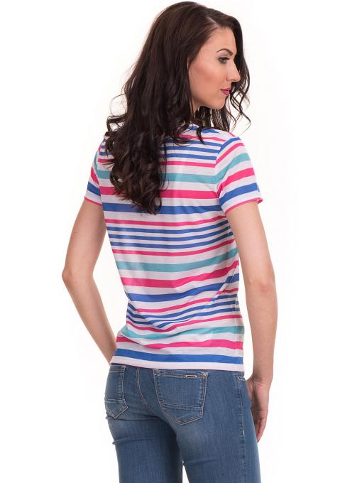 Дамска тениска на райе JOGGY GIRLS 6202 - бяла B