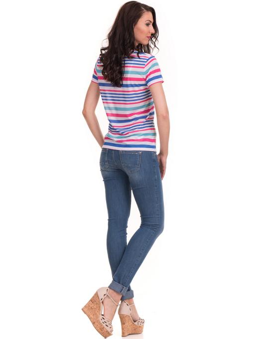 Дамска тениска на райе JOGGY GIRLS 6202 - бяла E