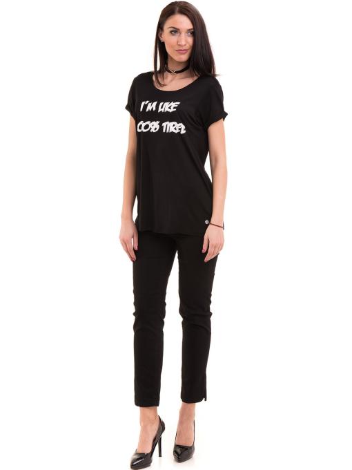 Дамска тениска с обло деколте KOTON 12940 - черна C