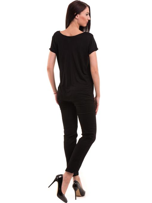 Дамска тениска с обло деколте KOTON 12940 - черна E