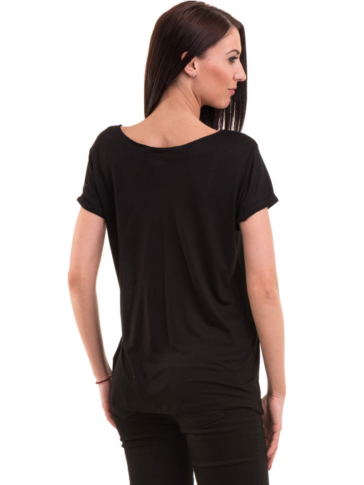 Дамска тениска с обло деколте KOTON 12940 - черна B