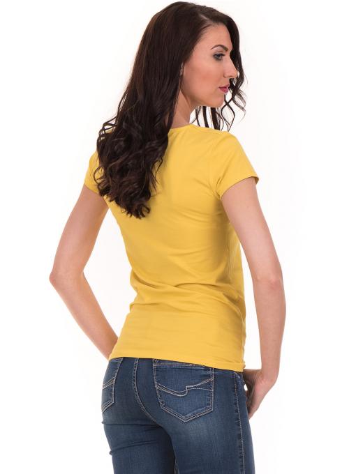 Дамска тениска с V-образно деколте STAMINA 101 - жълта B