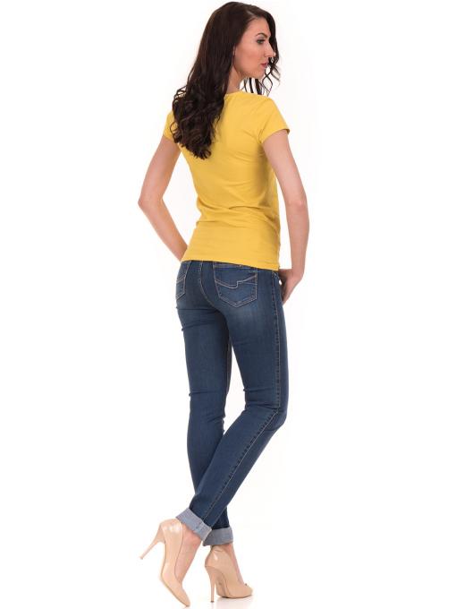 Дамска тениска с V-образно деколте STAMINA 101 - жълта E