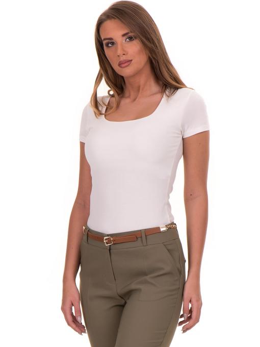 Дамска едноцветна тениска STAMINA 111 - екрю
