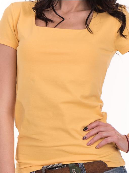 Дамска едноцветна тениска STAMINA 111 - жълта D