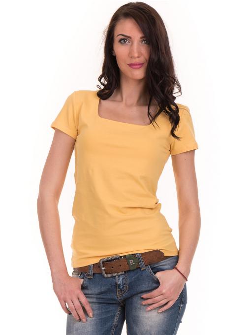 Дамска едноцветна тениска STAMINA 111 - жълта