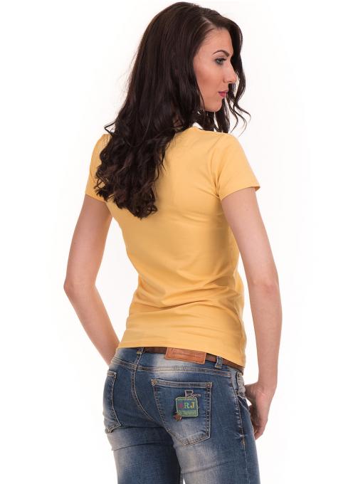 Дамска едноцветна тениска STAMINA 111 - жълта B