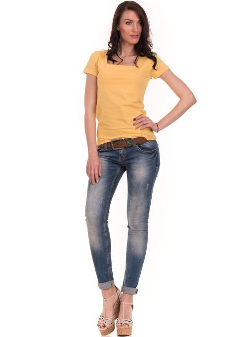 Дамска едноцветна тениска STAMINA 111 - жълта C