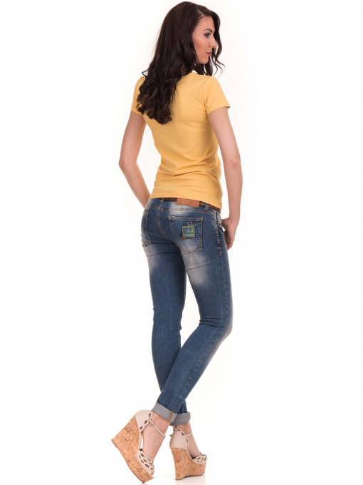 Дамска едноцветна тениска STAMINA 111 - жълта E