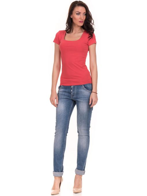 Дамска едноцветна тениска STAMINA 111 - цвят корал C1