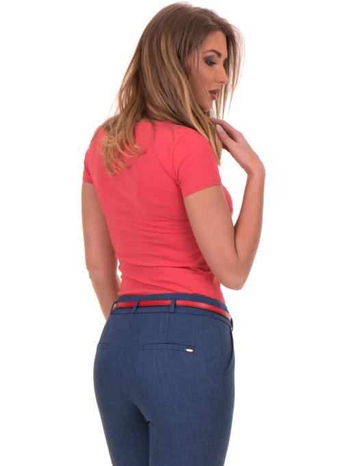 Дамска едноцветна тениска STAMINA 111 - цвят корал B